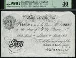 x Bank of England, B. G. Catterns, £5, London, 11 March 1932, serial number 174/J 11282, (EPM B228,