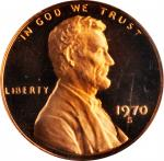 1970-S Lincoln Cent. FS-1402. Small Date. Proof-69 RD Deep Cameo (PCGS).
