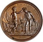 1781 Daniel Morgan at Cowpens medal. Betts-593. Copper. Original. Paris Mint. 56.1 mm, 1166.3 grains