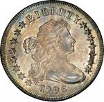 1796 Draped Bust Silver Dollar. Bowers Borckardt-65, Bolender-5. Rarity-2. Large Date, Small Letters