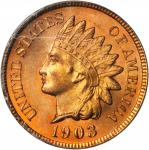 1903 Indian Cent. MS-65 RD (PCGS).
