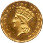 1885 $1 Gold Indian. PCGS PF64