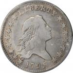 1795 Flowing Hair Half Dollar. O-116, T-11. Rarity-4. Two Leaves. VG Details--Cleaned (PCGS).
