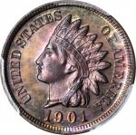 1901 Indian Cent. Proof-64 BN (PCGS).