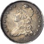 1831 Capped Bust Quarter. B-4. Rarity-1. Small Letters. MS-63 (PCGS). CAC.