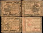 CC-5, 6, 14 & 94. Continental Currency. Very Fine.