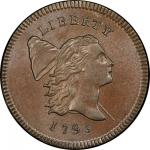 1795 Liberty Cap Half Cent. Cohen-1. Rarity-2. Lettered Edge, With Pole. Mint State-66 BN (PCGS).