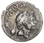 ROMAN IMPERATORIAL PERIOD: Sextus Pompey, in Sicily, 43-36 BC, AR denarius (3.46g), Sicily, 42-40 BC