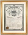 Great Eastern Life Insurance Company of Baltimore 1887 Certificate of Membership. Beauitfully framed