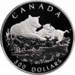 CANADA. Platinum Gray Wolf Proof Set (4 Pieces), 1998. All PCGS PROOF-69 Deep Cameo Certified.