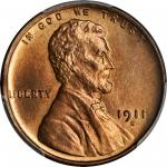 1911-S Lincoln Cent. MS-66 RD (PCGS).