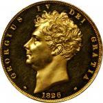 1826年英国乔治四世金币 PCGS Proof 63