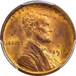 1910 Lincoln Cent. MS-66 RB (PCGS).