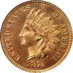 1874 Indian Cent. Snow-PR1, the only known dies. Proof-66 RD (PCGS). Eagle Eye Photo Seal.