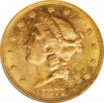 1877-S Liberty Head Double Eagle. MS-61 (NGC).