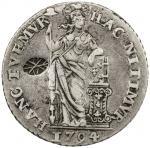 Lot 831 INDONESIA: SUMENEP: Sultan Paku Nata Ningra, 1811-1854, AR gulden, KM-193.2, Hafner-S1d, cou