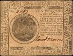 CC-7. Continental Currency. May 10, 1775. $7. Extremely Fine.