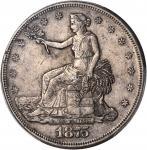 1875-S Trade Dollar. Type I/I--Chopmark--AU-50 (PCGS).