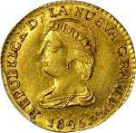 COLOMBIA.1845-UE 2 Pesos. Popayán mint. Restrepo 202.13. MS-62 (PCGS).