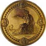 1876 United States Centennial Award Medal. Gold Plated Bronze. 76.3 mm. By Henry Mitchell. Julian AM