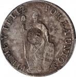 PHILIPPINES. Philippines - Peru. 8 Reales, ND (1834-37). Isabel II. PCGS Genuine--Scratch, EF Detail