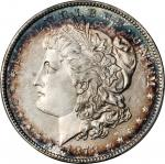 1878 Morgan Silver Dollar. 7 Tailfeathers. Reverse of 1878. MS-66 PL (PCGS).
