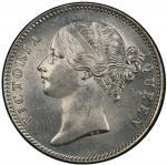 BRITISH INDIA: Victoria, Queen, 1837-1876, AR rupee, 1840(c), KM-458.2, S&W-3.33, large diamonds, ra