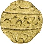 MUGHAL: Aurangzeb, 1658-1707, AV mohur, Haidarabad, AH1117 year 49, KM-315。20, with the mint epithet