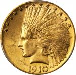 1910-D Indian Eagle. MS-63 (PCGS). CAC.