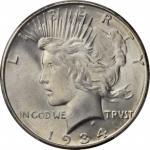 1934-D Peace Silver Dollar. MS-66 (PCGS).