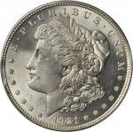 1921 Morgan Silver Dollar--Rim Clip Planchet @ 8:45--MS-64 (PCGS).