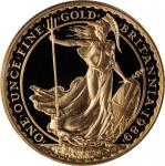 GREAT BRITAIN. Britannia Gold Proof Set (4 Pieces), 1989. London Mint. All PCGS PROOF-69 Deep Cameo