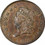 1810 Classic Head Cent. Sheldon-284. Rarity-3. MS-65 BN (PCGS).