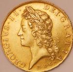 英国 (Great Britain) ジョージ2世像 5ギニー金貨 1729年(E.I.C) KM571.2 / George II 5 Guineas Gold