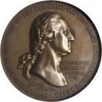 1788 (1904) Washington Monument Association Medal. Alexandria Lodge No. 22. Bronze. 40 mm. Baker-182