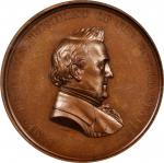 Undated (ca. 1861) Dr. Frederick Rose Medal. By Anthony C. Paquet. Julian PE-29. Bronze. MS-64 BN (N