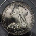 GREAT BRITAIN Victoria ヴィクトリア(1837~1901) Florin 1893 PCGS-PR64 Proof UNC+