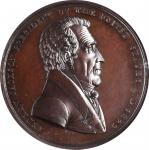 1829 Andrew Jackson Indian Peace Medal. Small Size. Bronzed Copper. 51 mm. Julian IP-16. Specimen-65