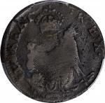 Undated (ca. 1652-1674) St. Patrick Farthing. Martin 4g.2-Fc.12, W-11500. Rarity-7. Copper. Sea Beas