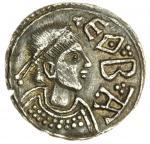 Mercia, Offa (757-796), Penny, Light Coinage, Canterbury, Eoba, 1.26g, 3h, + O|FF|A R|EX, pellet cro