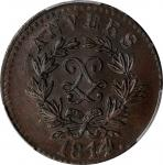 FRANCE. 5 Centimes, 1814. Naval Arsenal (Antwerp) Mint. Louis XVIII. PCGS MS-63 Brown Gold Shield.