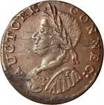 1786 Connecticut Copper. Miller 5.7-H.1, W-2610. Rarity-6-. Mailed Bust Left. AU-53 (PCGS).
