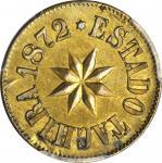 VENEZUELA. Tachira. 2 Reales, 1872. PCGS Genuine--Planchet Flaw, Unc Details Secure Holder.