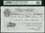 Bank of England, K.O. Peppiatt, £5, London 1 October 1938, prefix B280, black and white, ornate crow