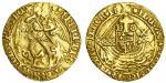 Henry VII (1485-1509), Angel, class IIIB, 5.06g, mm. escallop, henric?di?gra?rex?angl?z franc? roset