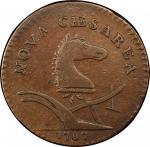 1787 New Jersey copper. Maris 63-r. Rarity-5. Large Planchet. VF-30 (PCGS).