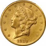 1889-CC Liberty Head Double Eagle. MS-62 (PCGS).