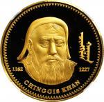 2002年蒙古10000图格里克精制金样币。MONGOLIA. Gold 10000 Tugrik Pattern, 2002. NGC PROOF-69 Ultra Cameo.
