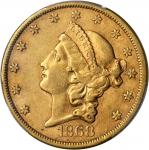 1868-S Liberty Head Double Eagle. EF-45 (PCGS).