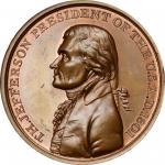 """1801"" (circa 1860s?) Thomas Jefferson Indian Peace Medal. Bronze. Third Size. Original Dies. Julian"